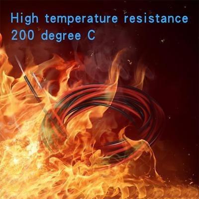 26 indicador flexible de silicona 10 ft:red de alambre y neg