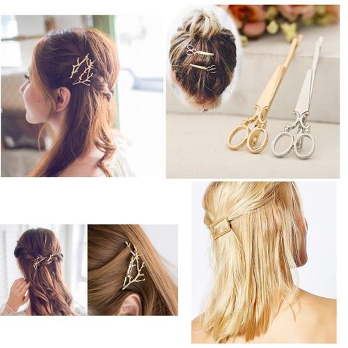 26 piezas pinzas para el cabello minimalistas de oro y ...