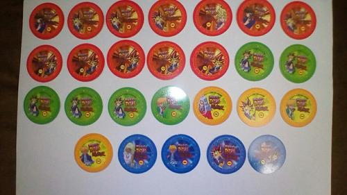 26 tazos de yugioh magic tazos.