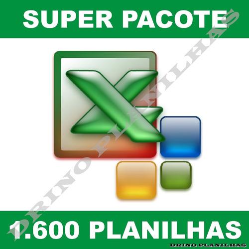 2600 planilhas em excel - super pacote 100% editável