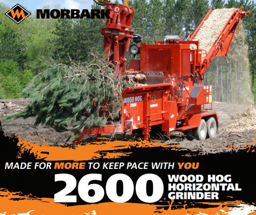 2600 wood hog horizontal grinder
