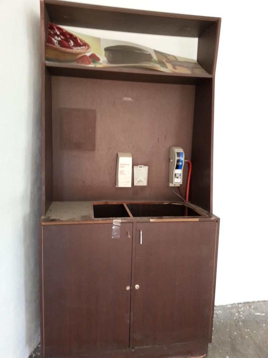261 muebles para cafeteria en madera acabado chocolate for Muebles para cafeteria economicos