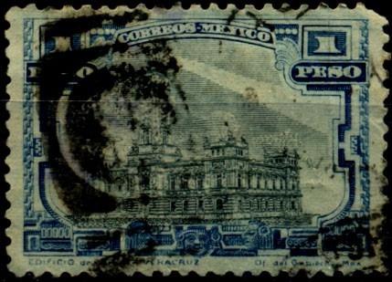 2622 méxico faro veracruz sin filigrana 1p usado 1917-20