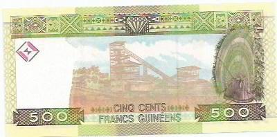 264 - cédula estrangeira-guinee - cinq cents francs guineens