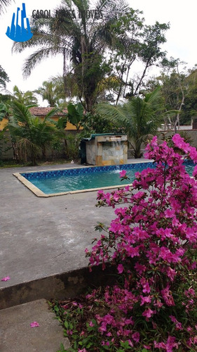 2677 - chácara em mongaguá com piscina e edícula! na cidade!