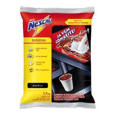2,6kg nescau com leite vending pro nestlé achocolatado