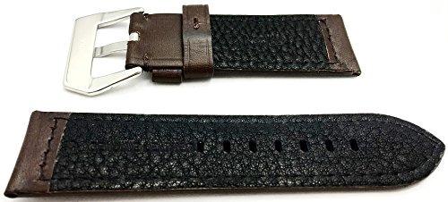 26mm marron oscuro estilo panerai correa de reloj de cuero g