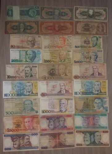 27 cédulas de dinheiro - notas antigas - frete grátis cod03