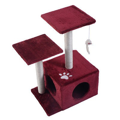 27  gato árbol condo lujo muebles juego juguete post...