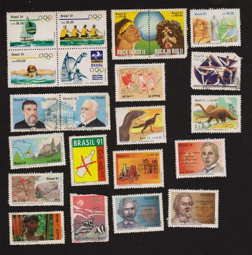 27 selos brasil 1991 - 1992