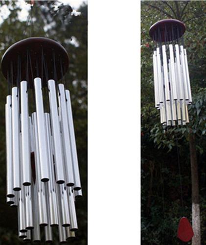 27 tubos campana carillón de viento iglesia adorno hogar pa