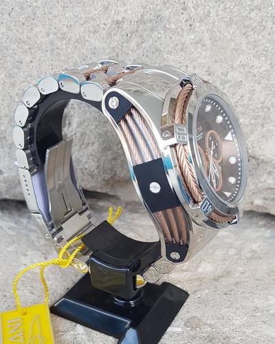 27650 - reloj de pulsera con esfera de color marrón y oro ro