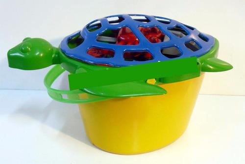 28 baldes de praia tartaruga para personalizar kit