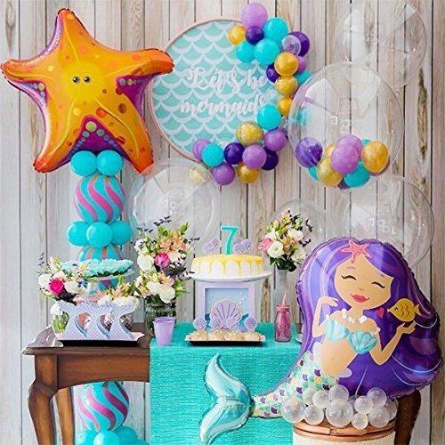 28 Globos Decoración La Sirenita Fiesta Cumpleaños J