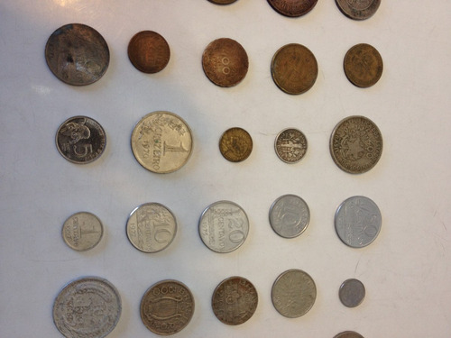 28 moedas antigas para colecionadores 12x frete grátis c.085