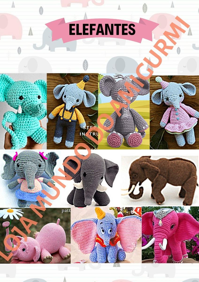 elefante amigurumi receita - Elephant amigurumi pattern | Elefante ... | 1200x848
