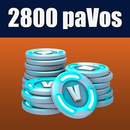 2800 pavos v-bucks fortnite fornite pc ps4 xbox android