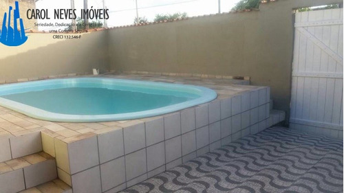 2801- casa lote inteiro com piscina á 800 metros da praia!