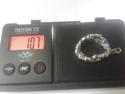 282 se vende pulsera en plata ley 925 para dama en corazones