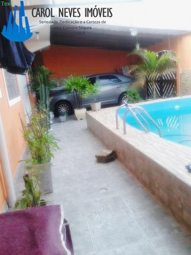 2843- casa simplesmente linda com piscina em mongaguá!