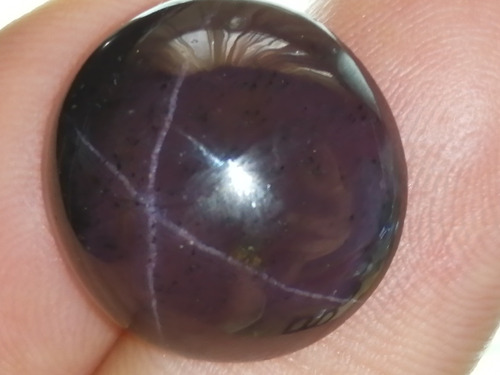 28.50ct natural piedra estrella garnet 4 lineas anillo dije