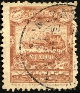 2854 mulitas papel listado vertical 1° e 20c usado 1895