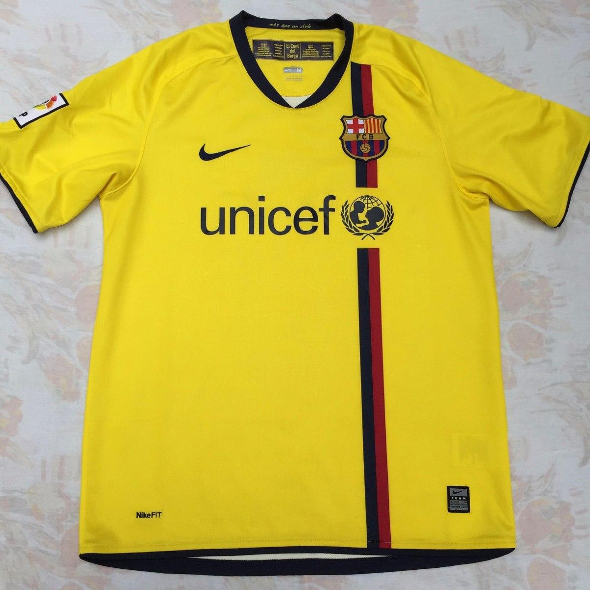 286787-760 Camisa Nike Barcelona Away 08 10 M Amarela Fn1608 - R ... 51ac7388ffad5