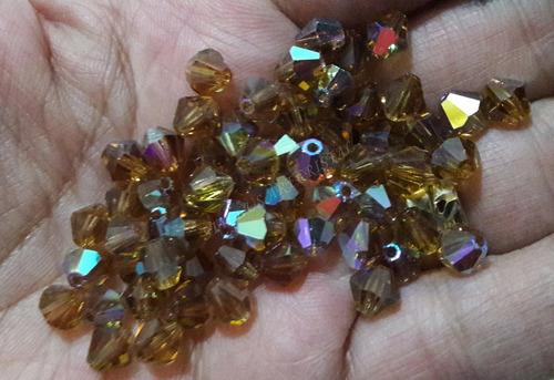 288 cristais balão preciosa 06mm light colorado topaz noivas