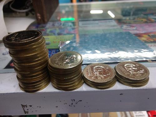29 monedas de $1000 pesos sor juana 1988, 1989, 1990 y 1992