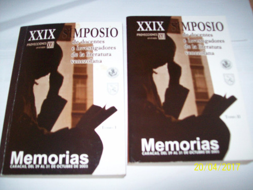 29 simposio. docentes investigadores, literatura venezolana