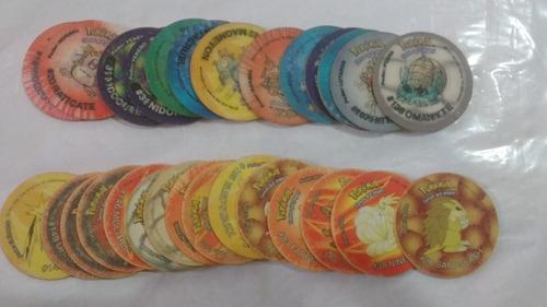 29 tazos pokémon temos que pegar elma chips frete gratis!!
