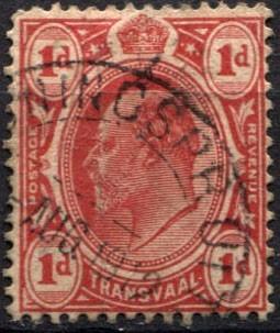 2940 transvaal protectorado rey scott#282 1p usado 190-10