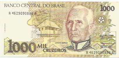 295 - cédula brasil c217 - mil cruzeiros