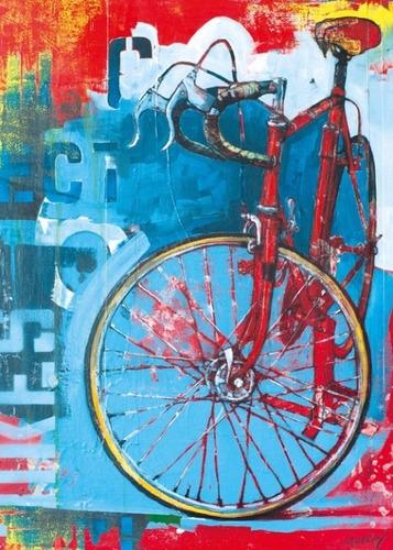 29600 bike art red limited rompecabezas 1000 piezas heye