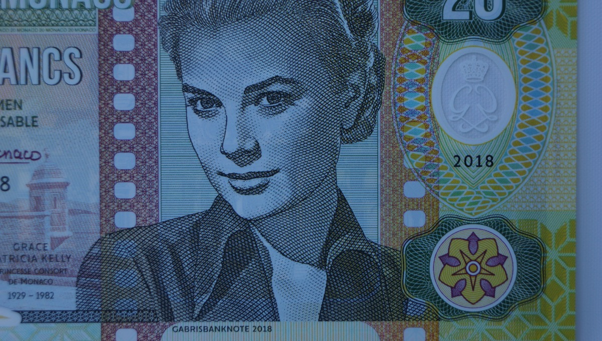 20 Francs 2018 Private Issue Clear Window Polymer /> Grace Kelly Monaco