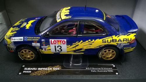 29cms subaru impreza 555 rally mundial 1996 escala 1/18