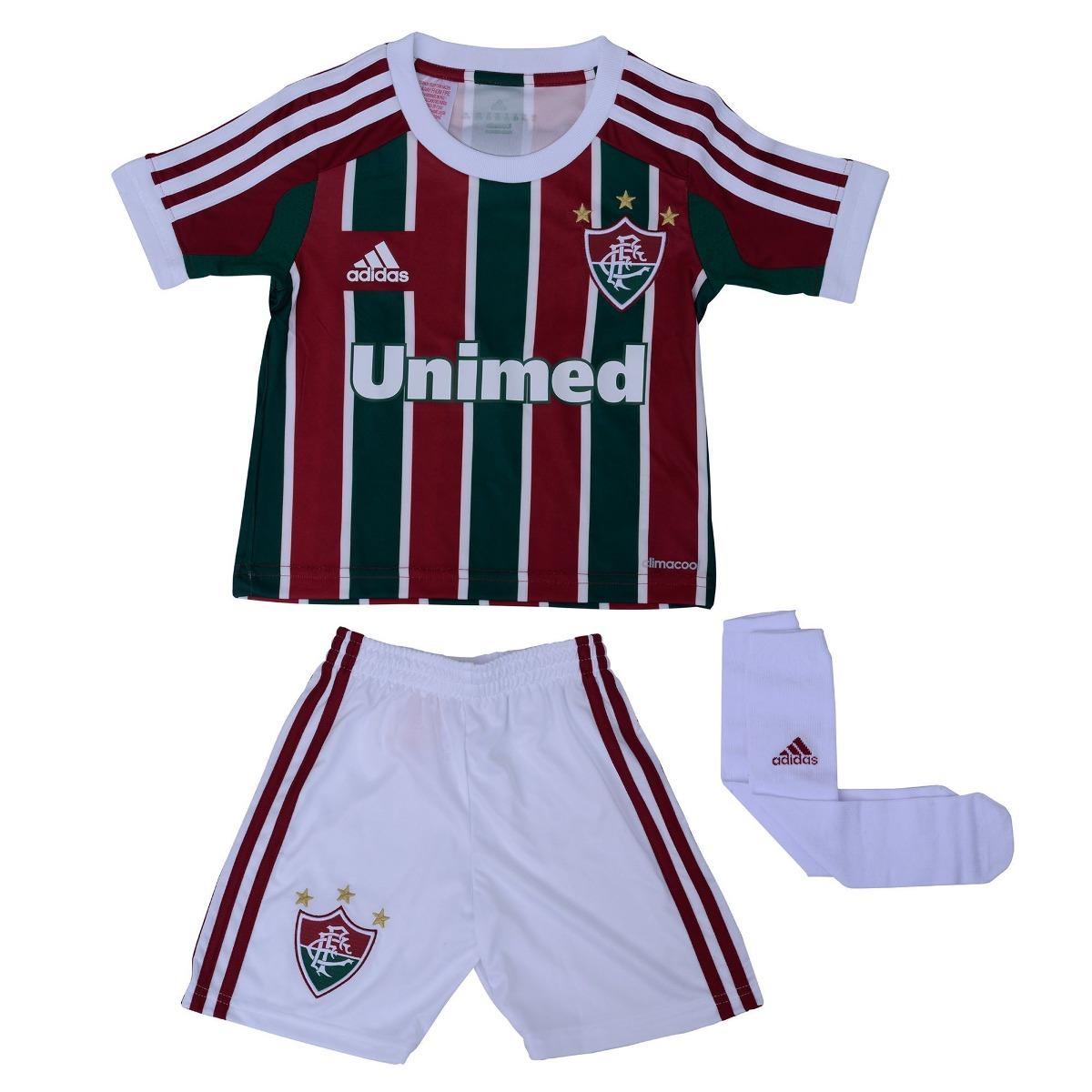 eece4811e1 2anos Mini Kit adidas Fluminense Camisa Shorts Meião 1magnus - R  69 ...