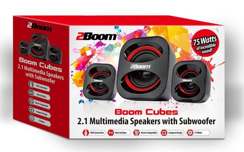 2boom usb powered, altavoces multimedia con estilo con sonid