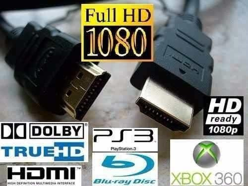 2cable hdmi a hdmi full hd 1080p 3d blu ray ps3 xbox ps4 tv