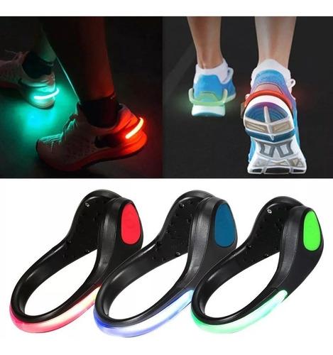 2clip con luz led para zapatilla running, caminata, ciclismo