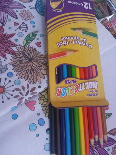 2cx de lápis de cor 12 cores multicolor  (faber castell)