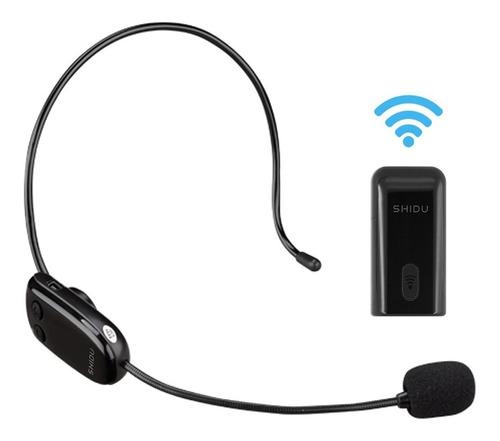 2en1 amplificador voz micrófono inalámbrico shidu u8 uhf 35m
