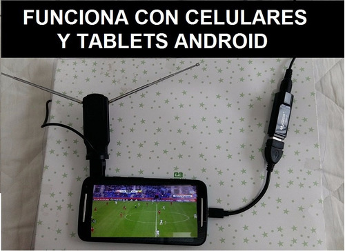 2en1: decodificador tdt en pc y celular con antena tv hd usb