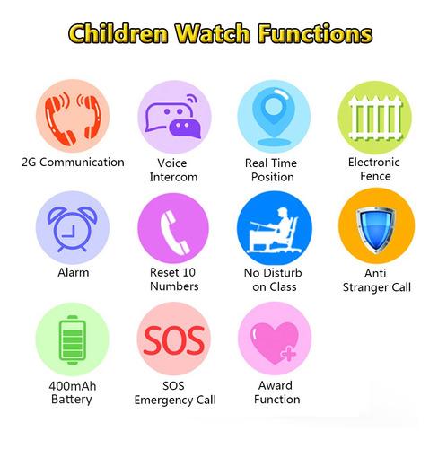 2g reloj inteligente para ni os lbs positioning tracker - Para ninos infantiles ...
