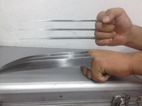 2garras de wolverine replica logan navajas 1/1 d metal x-men