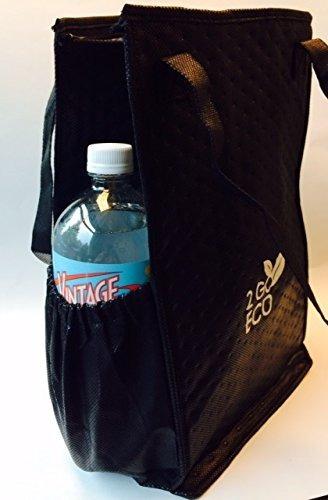 2goeco bolsa de almuerzo para adultos aislada cooler negro