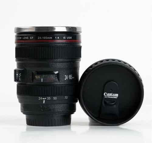 2gogeeks termo taza térmica forma lente cámara café 250ml