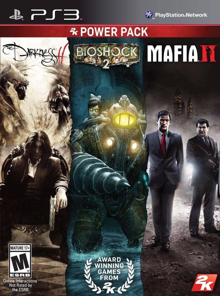 Power Pack Darkness2 Bioshock2 Mafia2 Ps3 Fisico