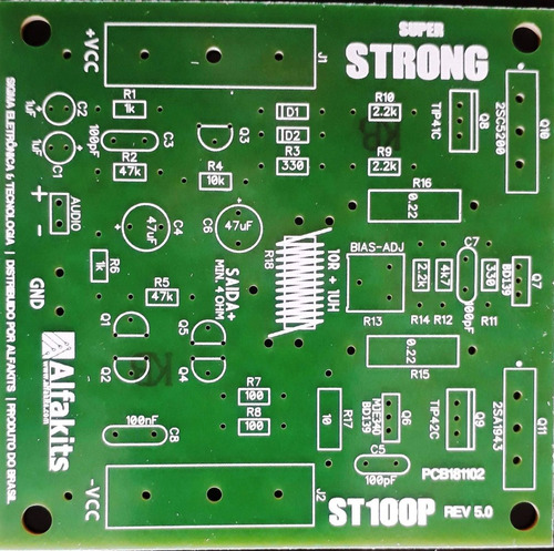 2kit placa superstrong (p/montar) com 1 placa fonte alfakits