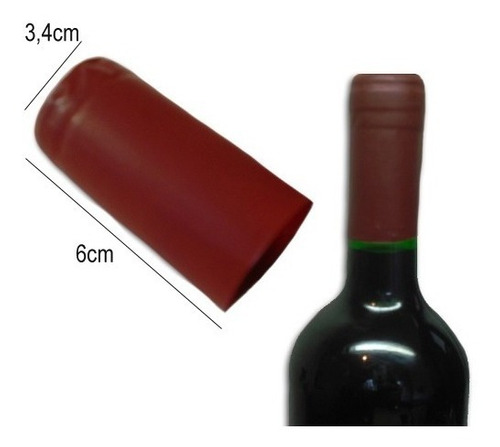 2mil lacre termoencolhível p/ vinho cor bordô 3,4cm x 6cm